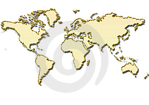 Gold Color Map Stock Images - Image: 8105304