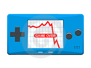 Portable Games Console With Descending Stock Marke Stock Photography - Image: 8107012