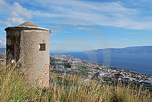 Landscape Of Messina's Canal Stock Images - Image: 8107404