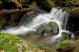 Mountain Waterfall In Bohemia Stock Images - Image: 8108514