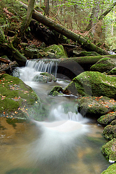 Mountain Waterfall In Bohemia Stock Photo - Image: 8108620