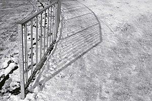 Railing Shadows Stock Photo - Image: 8108850