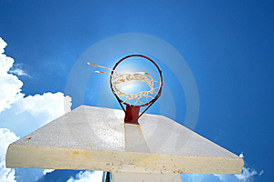 Basket Court Of Summer Royalty Free Stock Photos - Image: 8109178