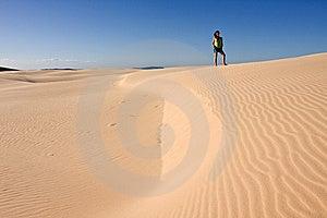 Girl Posing In Desert Stock Photo - Image: 8109560