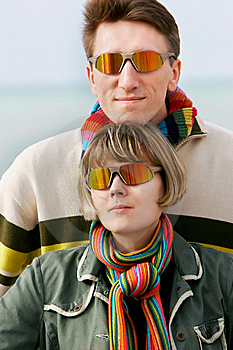 Young Couple In Sunglasses Stock Image - Image: 8109811