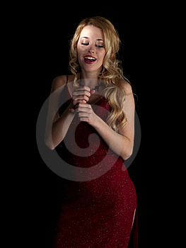 Hot Blondie Singing Stock Photo - Image: 8109940