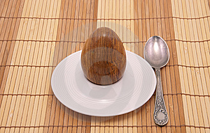 Served Stone Egg In A Rest Under Egg Royalty Free Stock Photo - Image: 8110095