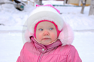 Pretty Little Girl In Winter Outerwear. Stock Photos - Image: 8110143