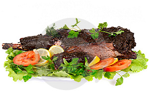 Served Roast Meat Royalty Free Stock Images - Image: 8111339