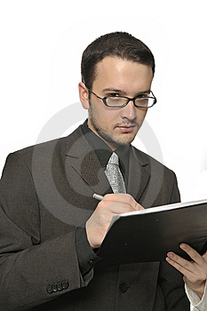 Young Businessman Signing A Contract Stock Photo - Image: 8112360
