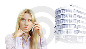 Portrait Of Beautiful Business Women With Phone Stock Images - Image: 8115814