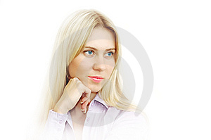 Portrait Of Blonde Young Women With Beautiful Yeys Royalty Free Stock Photography - Image: 8115847