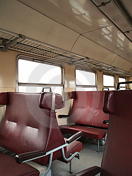 Interior Of Train Carriage Stock Photo - Image: 8117400