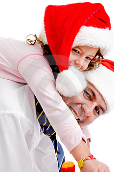 Girl Riding On Father's Back Stock Images - Image: 8117994
