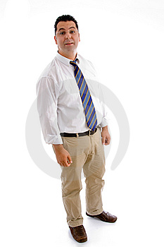 Full Pose Of Handsome Businessman Royalty Free Stock Image - Image: 8118426