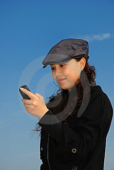 Reading Message Stock Photography - Image: 8118872