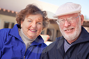 Happy Senior Adult Couple Stock Image - Image: 8120511