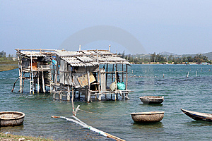 Vietnam Fishing Hut Stock Image - Image: 8120601