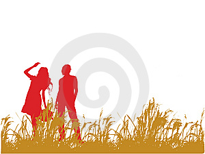 Young Couple Out Walking Stock Photo - Image: 8121770