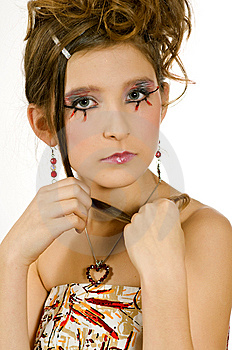 Face Closeup Of Girl With Special Eye Makeup Royalty Free Stock Photo - Image: 8121935