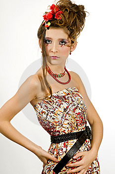 Beautiful Girl With Special Eye Makeup Stock Photos - Image: 8121953