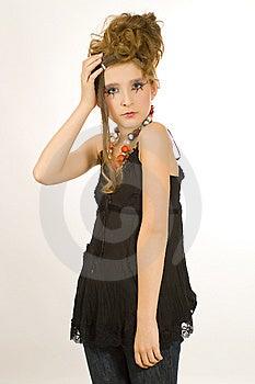 Beautiful Girl With Special Eye Makeup Stock Photos - Image: 8121993