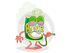 Sad Beer Can Stock Image - Image: 8123601