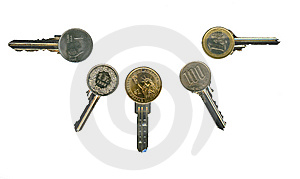 Cash Latchkeys To Financial Success And Stability. Royalty Free Stock Photo - Image: 8123855