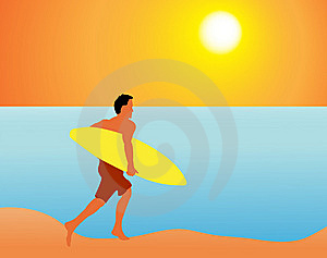 Bad Surfer Royalty Free Stock Photography - Image: 8123937