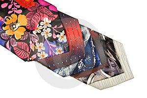 Row Of Multicolored Ties Royalty Free Stock Photos - Image: 8123938