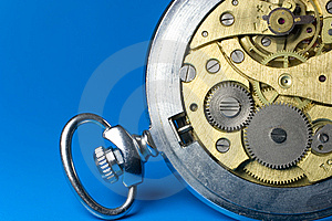 Closeup Of Old Watch Mechanism Royalty Free Stock Photography - Image: 8124227