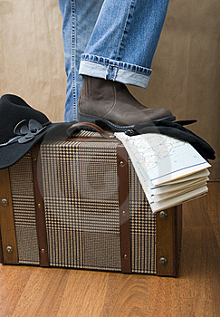 She Is Going To Travel Royalty Free Stock Photo - Image: 8124795