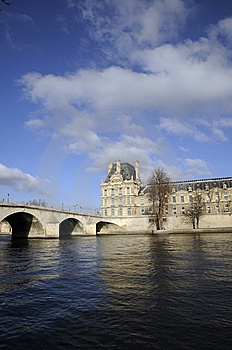 Old Building And Bridge On The River Royalty Free Stock Images - Image: 8125919