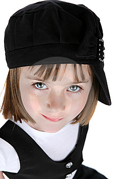Close Up Of Cute Girl With Blue Eyes Stock Photography - Image: 8125982