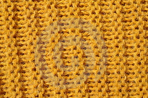 Yellow Knitted Wool Texture Royalty Free Stock Image - Image: 8126126