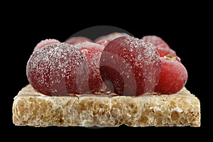 The Frozen Cranberry. Stock Image - Image: 8126671