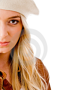 Side View Of Beautiful Woman Looking At Camera Royalty Free Stock Photos - Image: 8127018