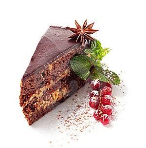 Chocolate Iced Pie Royalty Free Stock Photos - Image: 8127968