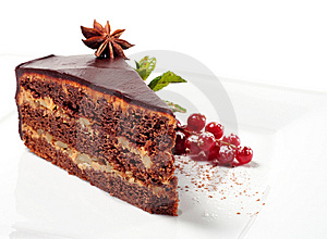 Chocolate Iced Pie Royalty Free Stock Image - Image: 8127976