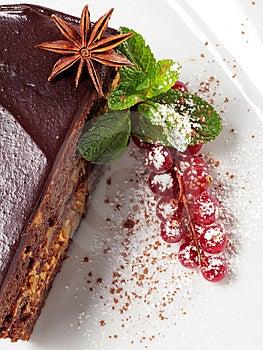 Chocolate Iced Pie Stock Image - Image: 8127991
