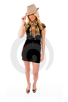Side View Of Beautiful Woman Looking At Camera Stock Photo - Image: 8128440