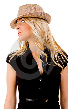 Side View Of Beautiful Woman Looking At Camera Royalty Free Stock Photography - Image: 8128457