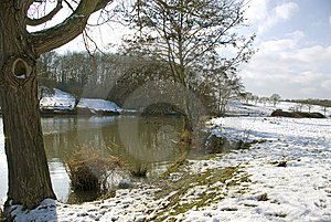 Medway Valley In The Snow Royalty Free Stock Photo - Image: 8128975