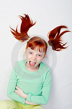The Girl Loudly Shouts. Stock Images - Image: 8129014
