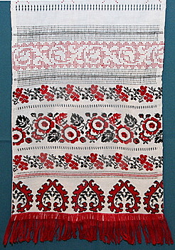 Ukrainian Color Knitted Textile Royalty Free Stock Images - Image: 8129399