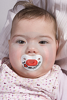 Baby With Teat Stock Photos - Image: 8130183