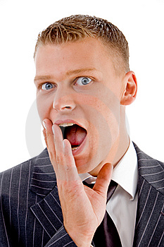 Close Up View Of Amazed Business Man Stock Images - Image: 8131254
