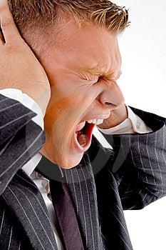 Shouting Loud Businessman Stock Photos - Image: 8131393