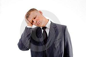 Portrait Of Sleeping Male Stock Image - Image: 8131441