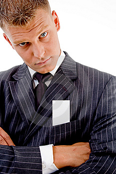 Businessman With Folded Hands Royalty Free Stock Image - Image: 8131526